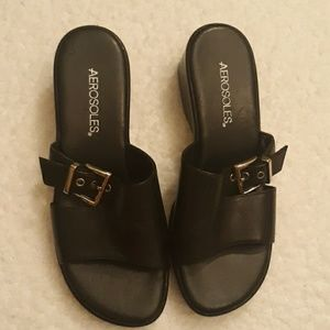 Aerosoles Black Heeled Sandals